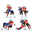 set moments where men play in american football vector image