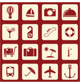 set of icons for travel services vector image vector image