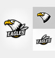 set of three eagle logos vector image