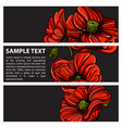 set ve tor horizontal banners with hand drawn vector image vector image