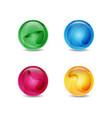 shinny ball vector image