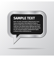 Silver speech bubbles for message on white vector image