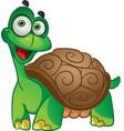smiling fun tortoise vector image vector image