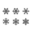 snowflake set gray color on white vector image vector image