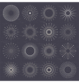starburst set vector image