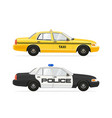 taxi yellow cab nyc car vector image vector image