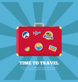 time to travel journey poster vector image vector image