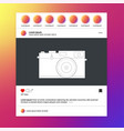 video frame for social networks landscape aspect vector image
