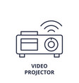 video projector line icon concept video projector vector image vector image