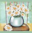 vintage chamomile bouquet spring floral vector image vector image