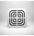 White Abstract App Icon Template vector image vector image