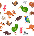 wild australia animals seamless pattern in flat vector image