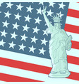 american patriot flag vector image