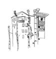 city line landscape vector image