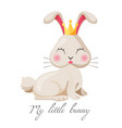 my little bunny girl cute princess in gold vector image