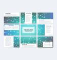 big set of templates for presentation vector image