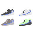 a set of different sneakers vector image vector image