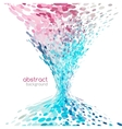 Abstract funnel tornado background colorful dots vector image