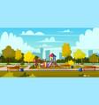background cartoon playground in park vector image