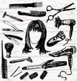barbers stuff vector image vector image