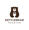bear gym kettlebell fitness logo icon vector image