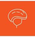 Bicycle helmet line icon vector image vector image