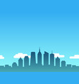big city skyline in comic cartoon style vector image vector image