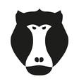 Black aggressive head of baboon monkey in vector image vector image