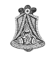 Black and white hand drawn Church Bell vector image vector image