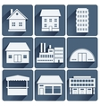 buildings set vector image vector image
