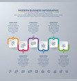business infographic design with 6 steps vector image