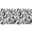cat paw seamless pattern breed isolated vector image vector image