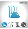 chemistry blue icon vector image