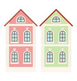 city houses small colored buildings vector image vector image