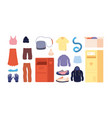 clothes donation clothing recycling colorful vector image