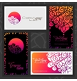 colorful decorative design business card vector image
