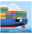 container carrier ship vector image vector image