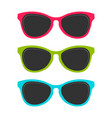 cool summer colored sunglasses design vector image vector image