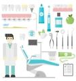 Dentist symbols set vector image vector image