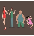 Different flat characters vector image vector image