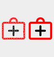 dot and flat first-aid case icon vector image vector image