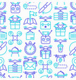 drone delivery seamless pattern vector image vector image