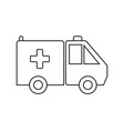 drug shipment simple medical icon in trendy line vector image
