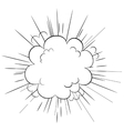 Explosion cloud vector image