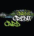 find the best credit card type text background vector image vector image