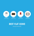 flat icon device set of resist microprocessor vector image vector image