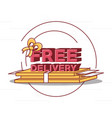 free delivery design vector image vector image