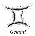 gemini astrology sign hand drawn horoscope vector image vector image