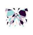 geometric butterfly mosaic outline logo icon vector image vector image