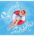 girl summer holidays 380 vector image vector image